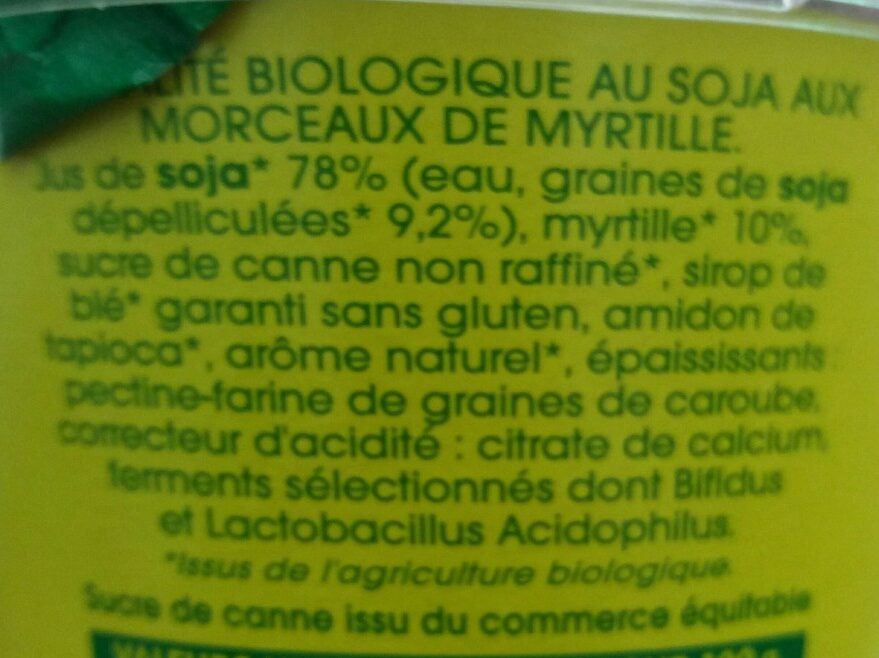 So SOJA - Ingredients - fr
