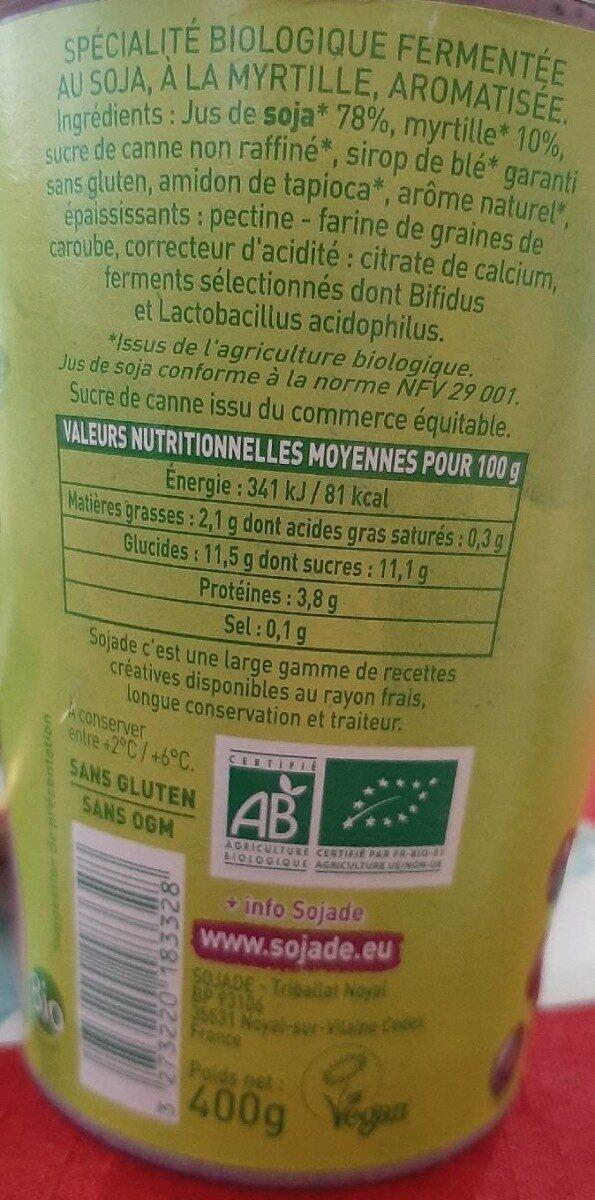 So SOJA - Nutrition facts - fr
