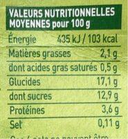 Dessert au soja, Chocolat - Informations nutritionnelles - fr