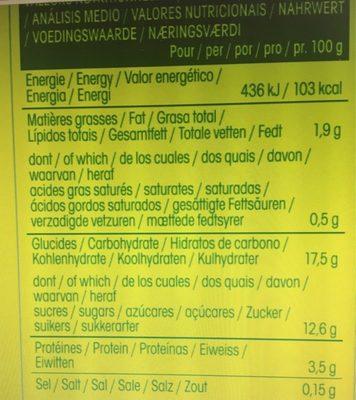 So Soja ! Chocolat - Informations nutritionnelles - fr