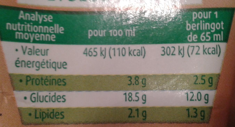 Sojade de poche, chocolat - Voedingswaarden - fr