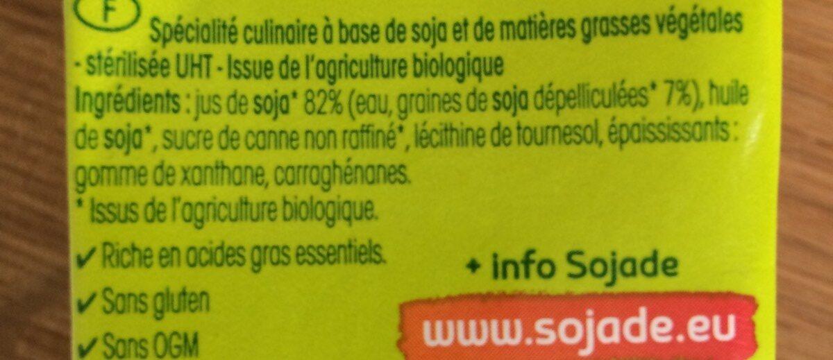 So Soya! Cuisine Riche en OMEGA3 - Ingredients - fr