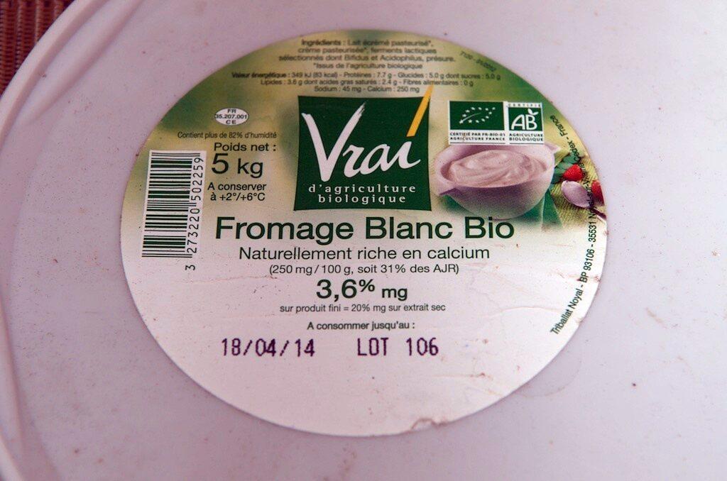 Fromage Blanc Bio 3,6% MG - Produit - fr