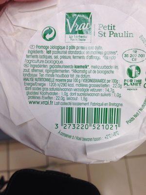 PETIT SAINT PAULIN - Ingrédients - fr