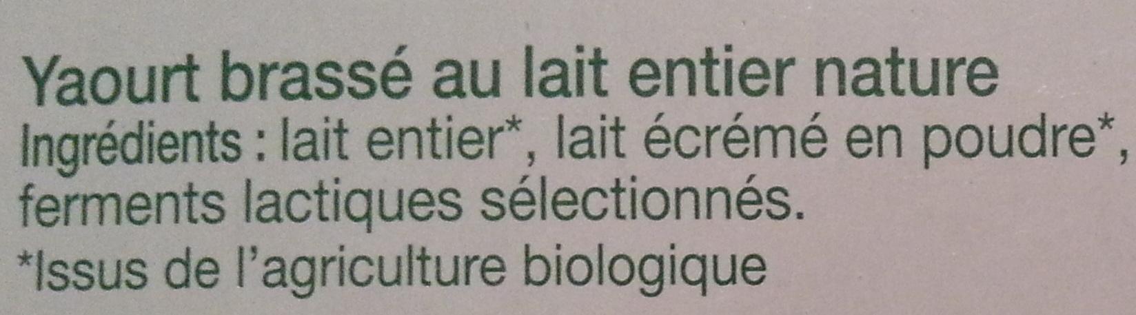 Yaourt brassé Nature - Ingredients