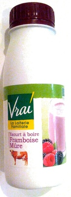 Yaourt à boire à la pulpe de framboise et mûre - Product - fr