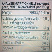 Yaourt arôme naturel Vanille Bio Vrai - Informations nutritionnelles - fr
