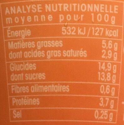 Fondant Noisette - Informations nutritionnelles - fr