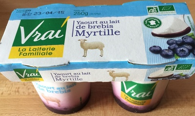 Yaourt au lait de brebis myrtille Vrai - Product