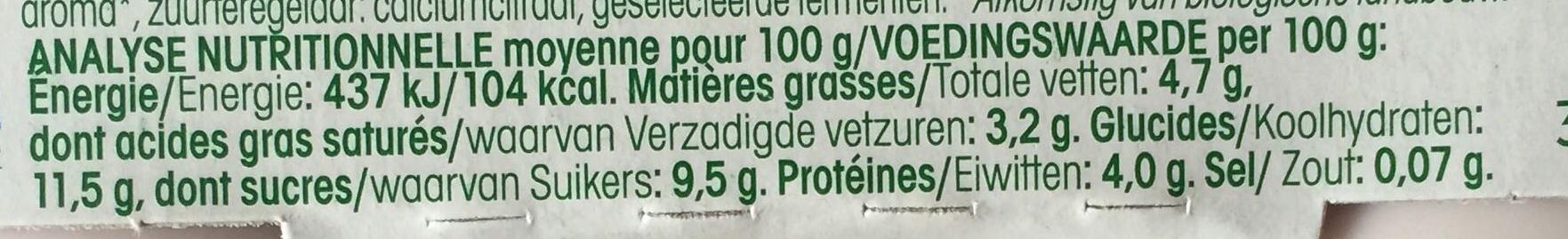 Yaourt au lait de brebis myrtille Vrai - Nutrition facts