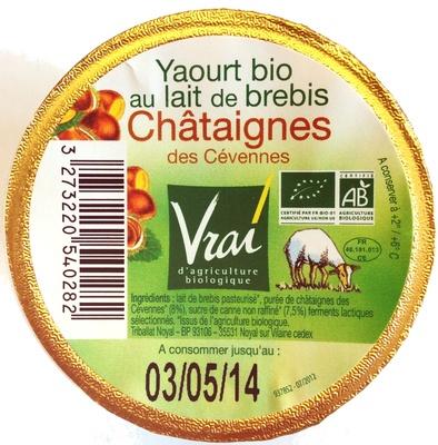 Yaourt bio au lait de brebis Châtaignes des Cévennes - Product