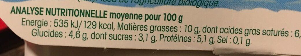 Yaourt Grecque Au Lait De Brebis - Informations nutritionnelles - fr