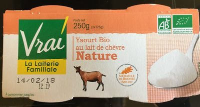 Yaourt au lait de Chèvre Nature - Produto - fr