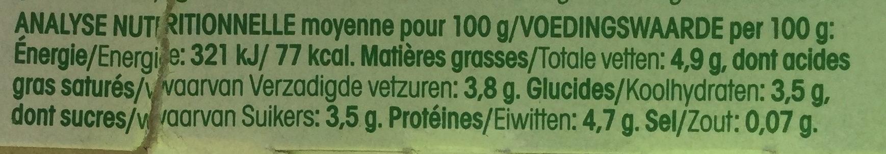 Yaourt au lait de Chèvre (Nature) Bio - Nutrition facts