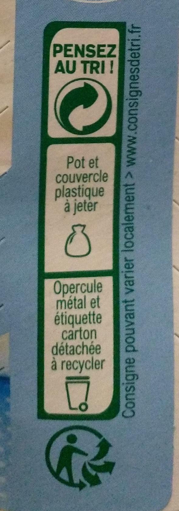 Fromage blanc au lait de brebis - Instruction de recyclage et/ou information d'emballage - fr