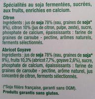 Fruits mixés Citron / Abricot Goyave - Ingrediënten - fr