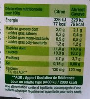 Fruits mixés Citron / Abricot Goyave - Voedingswaarden - fr