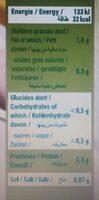 Soia Natural senza zuccheri - Informations nutritionnelles - fr