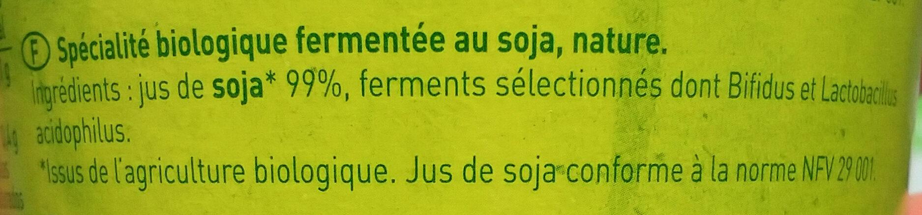 So Soya - Ingrédients - fr