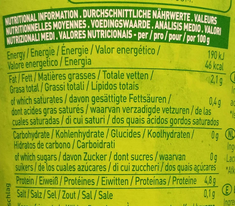 So Soya - Informations nutritionnelles - fr