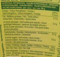 Sojade Lemon - Informations nutritionnelles - es