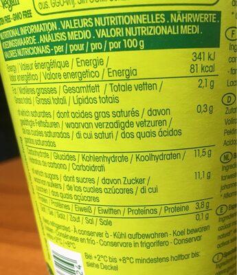 Sojade Soja Spezialität Heidelbeere - Información nutricional - fr