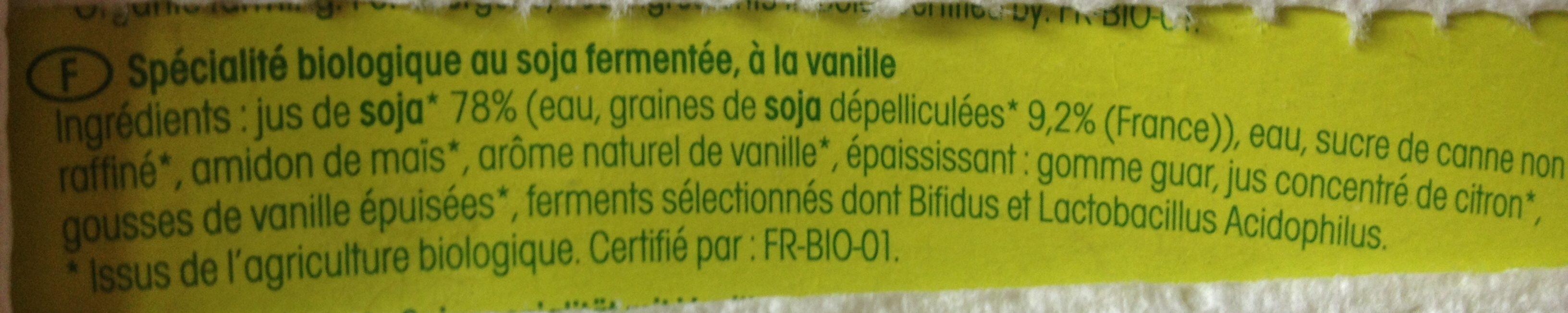 So Soya! Vanilla - Ingredientes