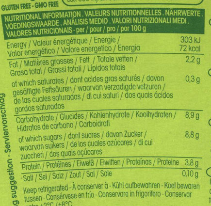 So soya - Nutrition facts