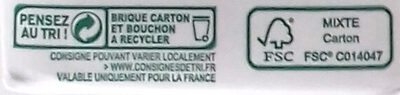 Cuisine Soja - Sojasun - Recycling instructions and/or packaging information