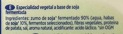 Untable Vegetal Natural - Ingredientes
