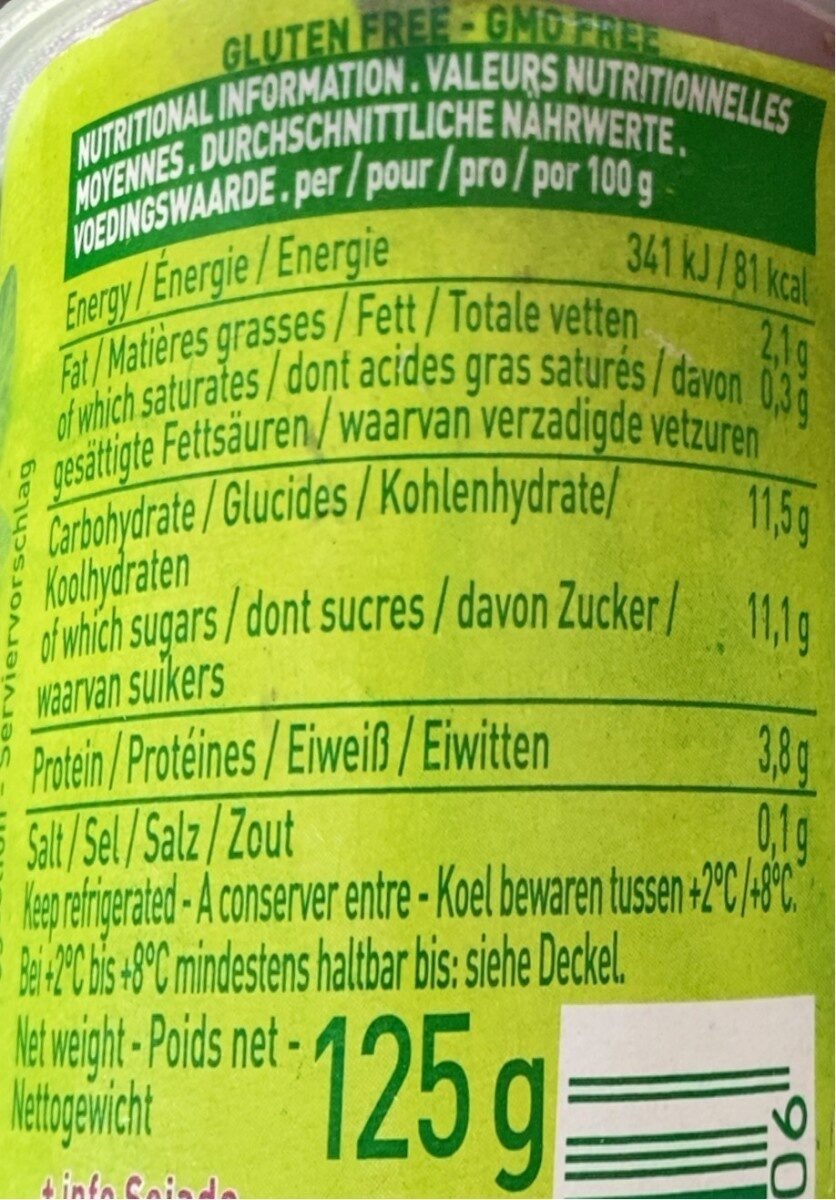 So Soja! Blueberry - Nutrition facts - fr