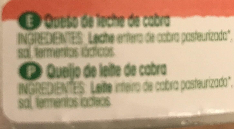Fromage de chèvre - Queso de cabra - Ingrédients - fr