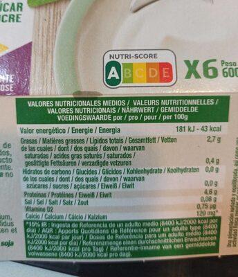 Bifidus Natural sin azúcar - Voedingswaarden - es