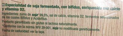 Sojasun natural - Ingredients