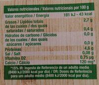 Sojasun natural - Informació nutricional