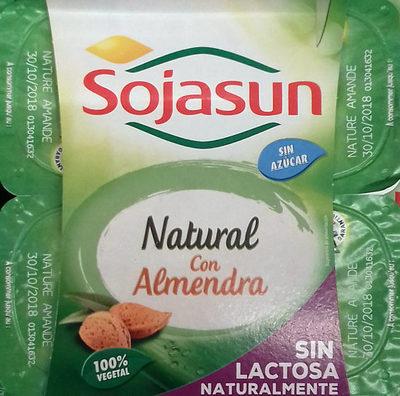 Postre de soja natural con almendra - Product - es
