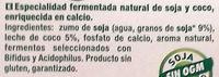 Sojasun natural coco - Ingredientes