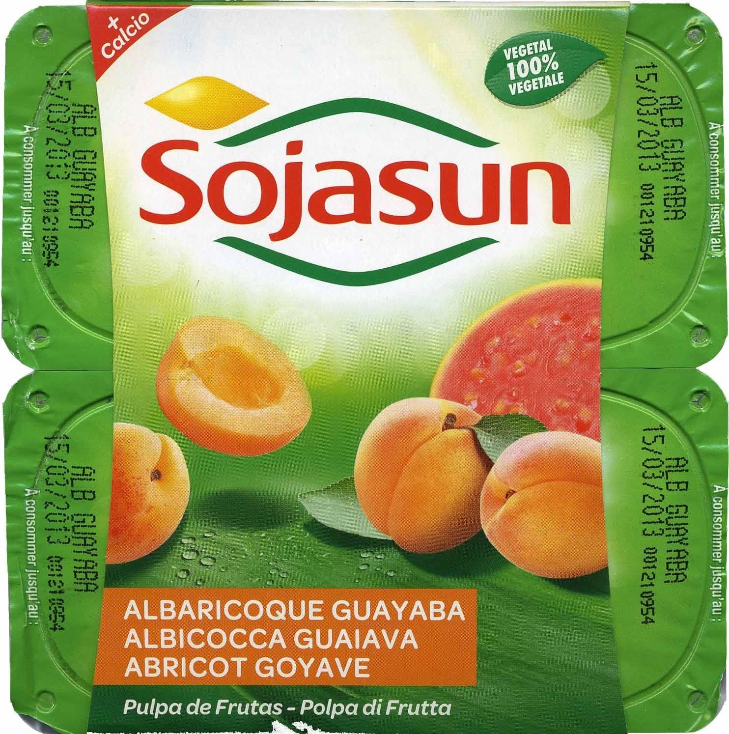 """Postre de soja """"Sojasun"""" Albaricoque y guayaba - Producte"""