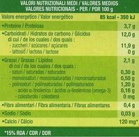 """Postre de soja """"Sojasun"""" Melocotón (2 Uds) - Información nutricional - es"""