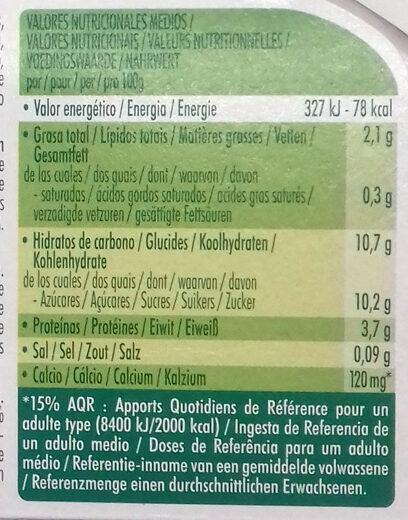 Dessert Végétale Mandarine Citron Vert - Nutrition facts
