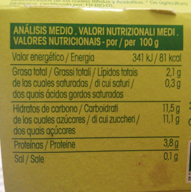 Yogurt Soja Arandanos - Informació nutricional - es