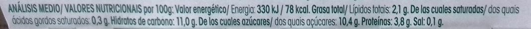 Especialidad de soja Limón - Informations nutritionnelles