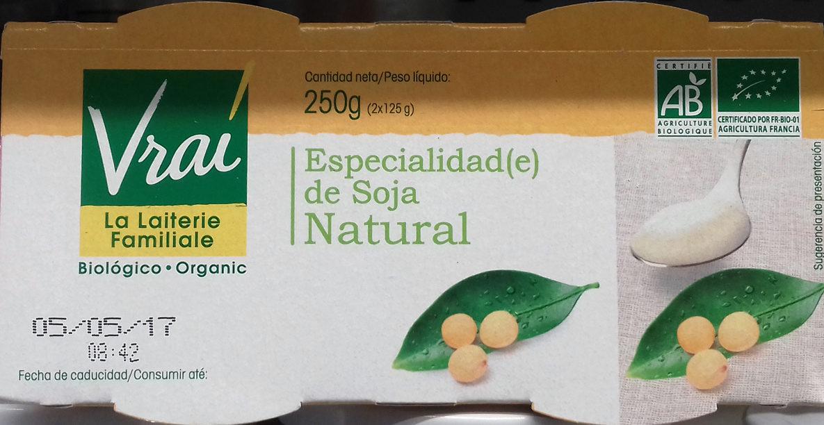 Especialidad de soja Natural - Producto - es