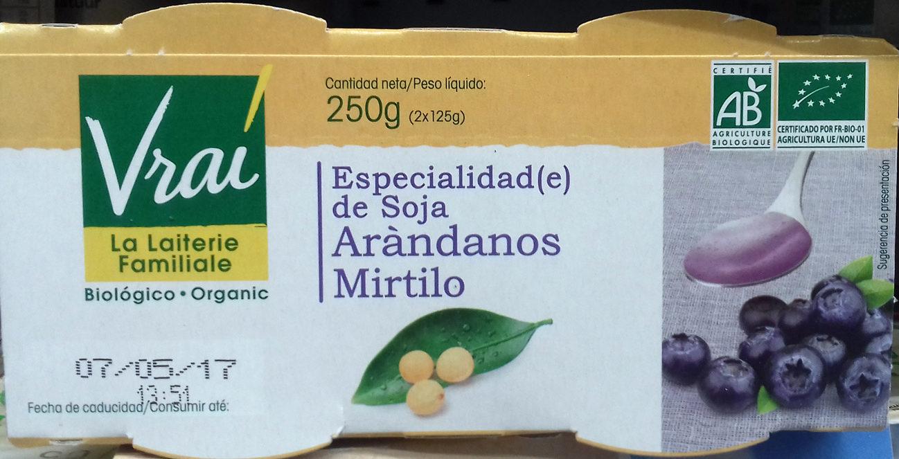 Especialidad de soja Arándanos - Producte - es