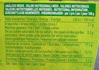 Postre de soja Chocolate - Informació nutricional - es