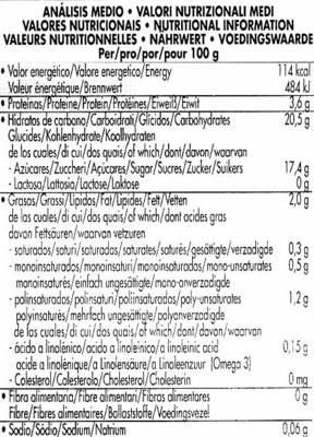 Postre de soja Chocolate - Información nutricional - es