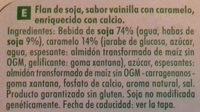 Flan sabor vainilla con caramelo - Ingredientes - es