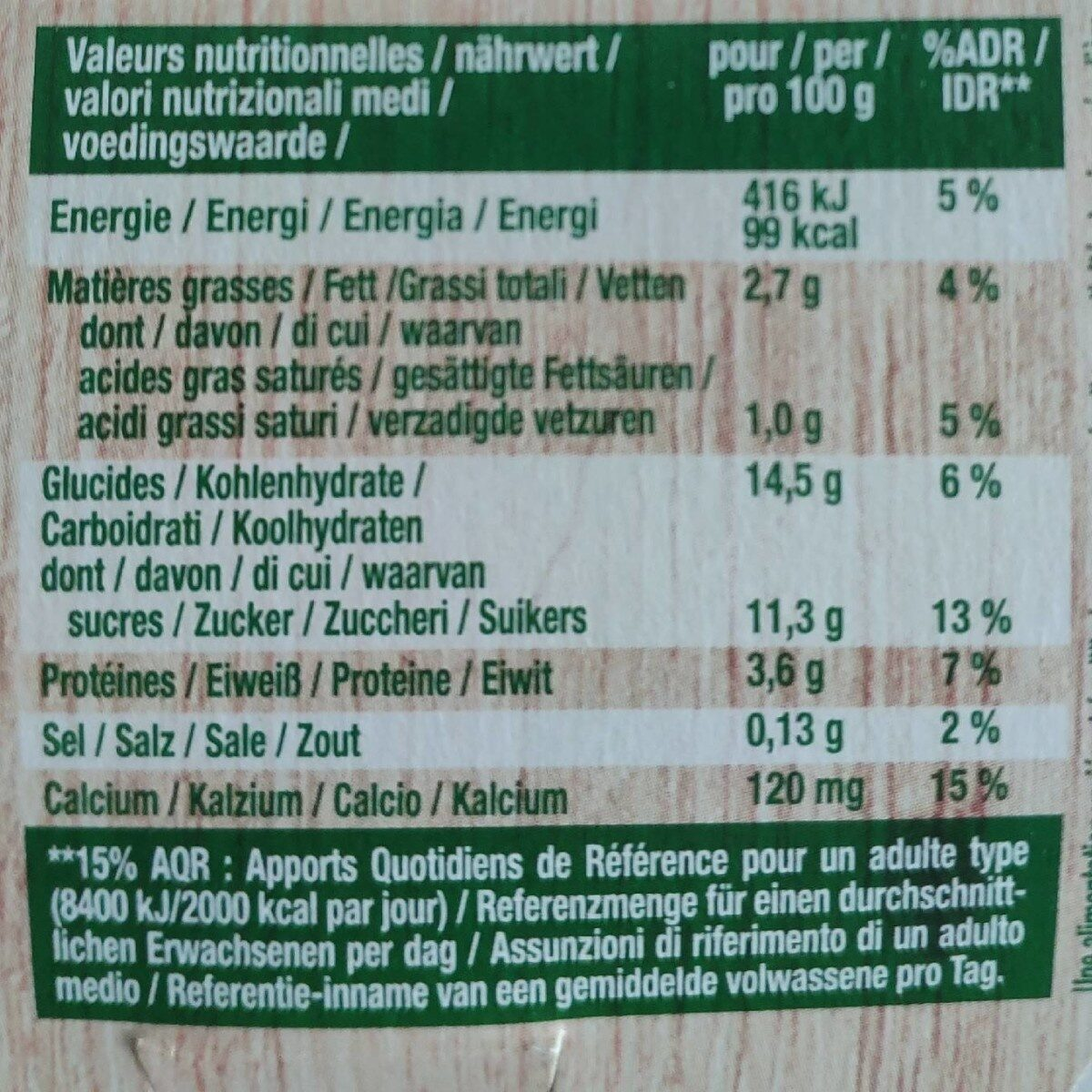 Postre vegetal de soja plaisir chocolate sin lactosa - Nutrition facts - es