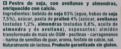 Postre Praliné - Ingredientes