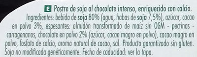 Postre de soja Chocolate Intenso - Ingredientes - es